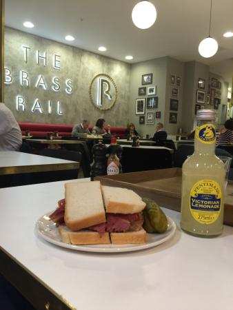 The Brass Rail At Selfridges Very Good Salt Beef Sandwich