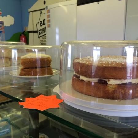 Polzeath, UK: A selection of homemade cakes