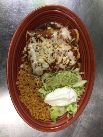 Franklin, NC: This is Enchiladas Rojas