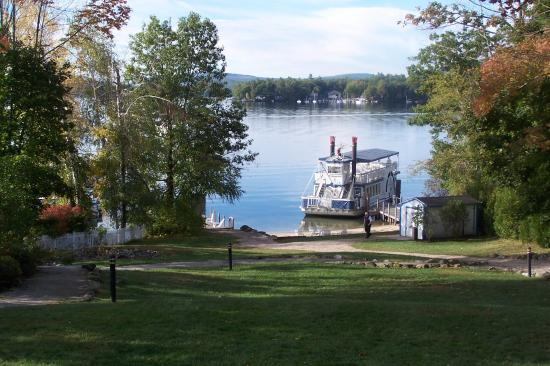 Wolfeboro, NH: The Inn private beach and landing.