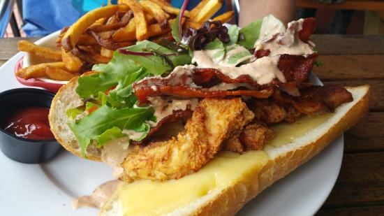 The Rotisserie Shop : Special chicken strip club sandwich