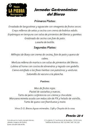 Bembibre, Espanja: Jornadas Gastronómicas del Bierzo 2015