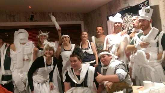 Snake Bite Brewery: All dressed up,  The Great Franz Josef Games Night