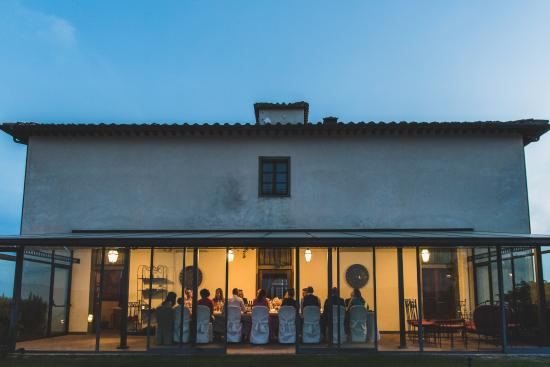 Brolio, Italy: wedding evening