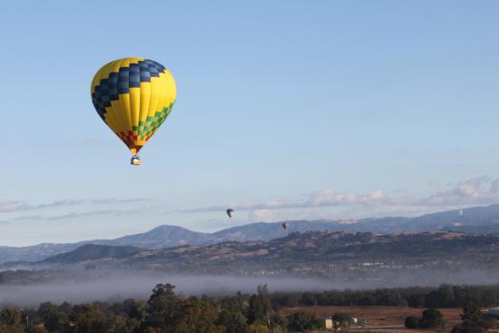 Up & Away Ballooning: The ADA balloon over the valley