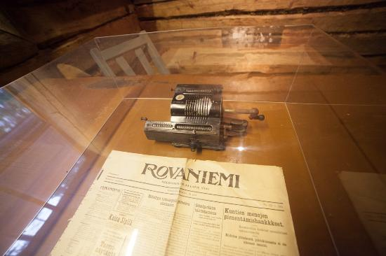 Lapland Forestry Museum: Old newspaper