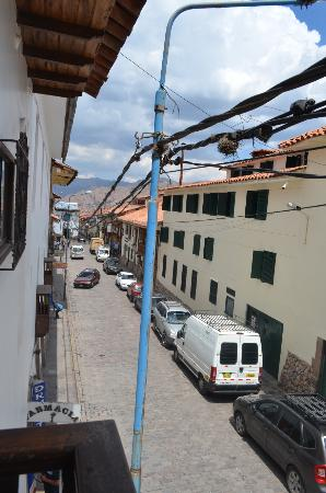 Andenes al Cielo: View from our tiny colonial balcony