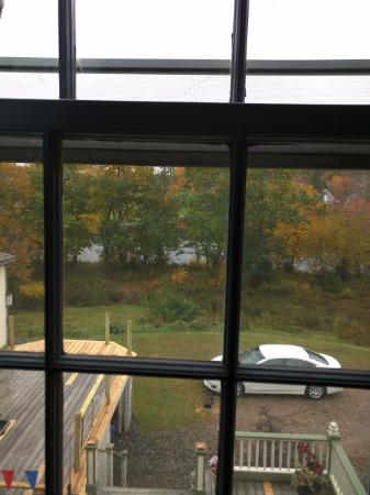 Cherryfield, ME: View of River from River Room.