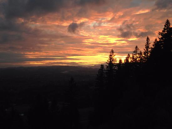 Chehalem Ridge Bed and Breakfast: Sunset
