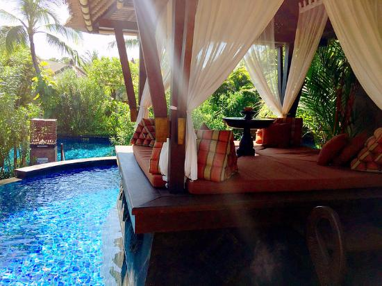 Sitting Deck And Private Pool At Lagoon Villa Picture Of The St
