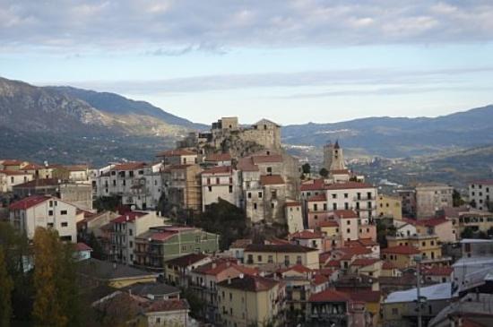 Albergo La Collina: a balcony view of Oliveto Citra, Italy