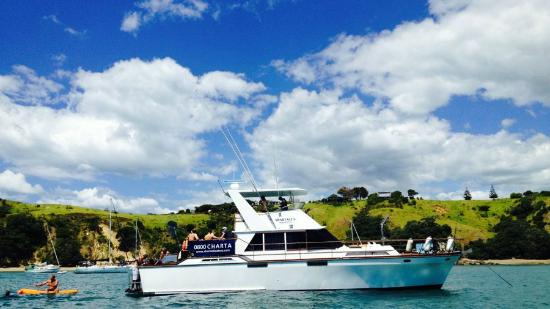Charter Boats NZ: MY Spartacus at Waikeke Island