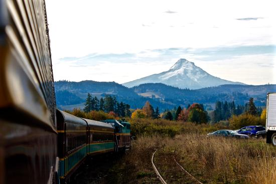 Hood River, OR: Mount Hood from the train