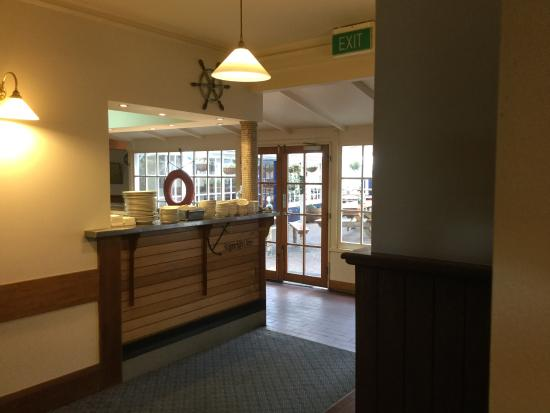 Shipwright's Arms Hotel: View to beer garden