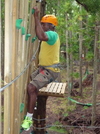 Cilaosa Parc Aventure : Le mur