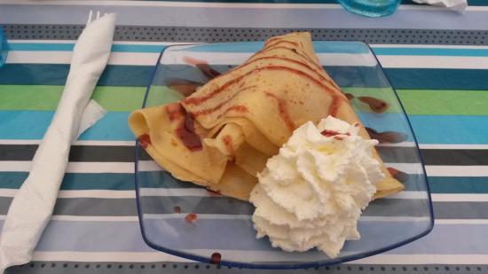 Crepe with cheesecake ice cream - Picture of Casa Matilde, Lanzarote ...