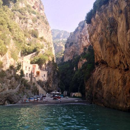 Fiordo di Furore, Italia: View from boat