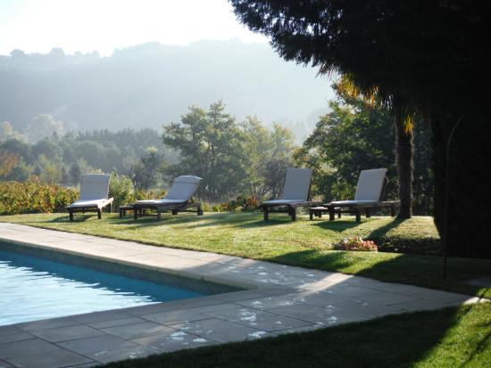 Le Mas de Foncaudette : View on the swimmingpool