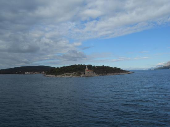 Villa Nora Hvar: View from ferry arriving on Hvar Island