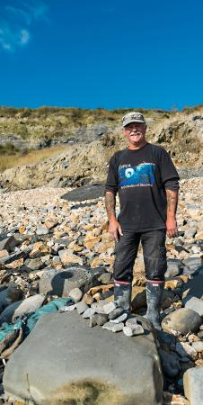 Fossil Hunting Walks: Our fossil hunting guide, Paddy