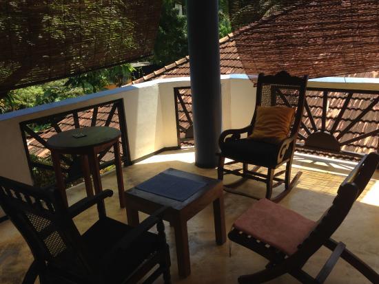Black Beauty Guesthouse: gemütlicher Balkon