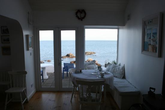 The White Cottages: Breakfast table with view