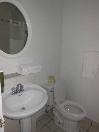 Hotel Ambrose: Room 102's bathroom
