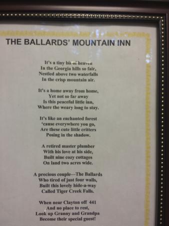 Tiger Creek Falls Inn : poem