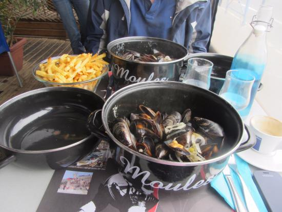 Moules mariniere photo de bar des pecheurs saint for Restaurant st mandrier