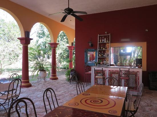 Hacienda Santa Cruz: Terasse - Restaurant