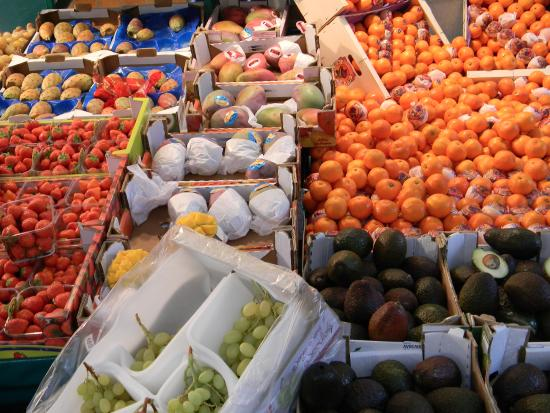 Stall at Rue Poncelet Market