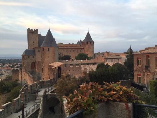 Le coucher de soleil picture of hotel de la cite for Hotels carcassonne