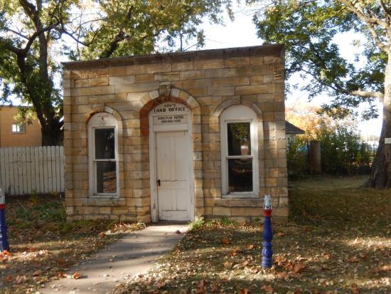 Minden, NE: Old Land Office Building at Pioneer Village