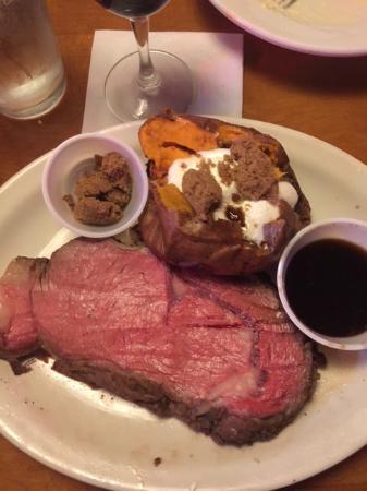 Texas Roadhouse: Prime rib with sweet potato