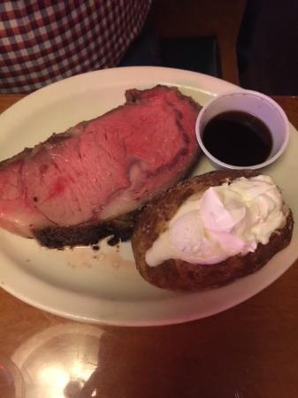 Texas Roadhouse: Prime rib with baked potato