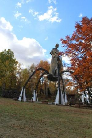 L'Anse, MI: The shrine is carefully placed to blend in with its natural surroundings.