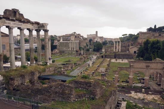 Piazza Del Campidoglio: View Of Roman Forum From
