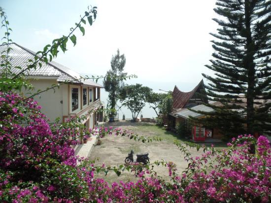 Thyesza Guesthouse: Aussicht vom Zimmer im ersten Stock