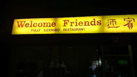 Welcome Friends Frontage
