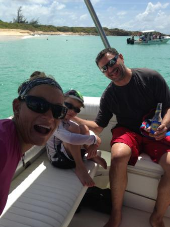 Oyster Pond, St-Martin/St Maarten: Photo bomb by Micah! Love her!