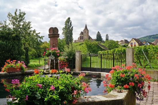 Sentier Viticole des Grands Crus : Fountain in Hunawihr