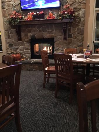 Lisbon, OH: Fire Place Inside Shale Tavern & Grille October 2015