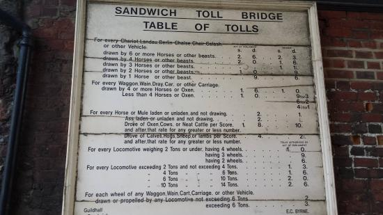 Sandwich, UK: Crossing Tolls