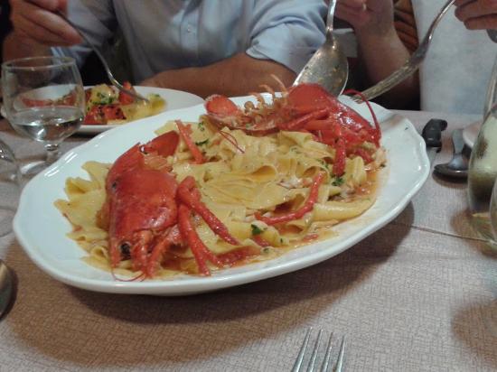 Osteria Gloria: lasagnette all'astice