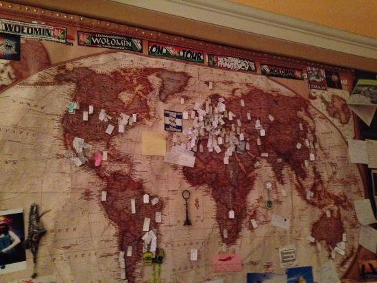 Habitat Hostel: map of guests from which countries they are coming