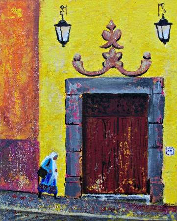 Cristi Fer Art Gallery and Workshops Door on Canal st in San Miguel de Allende & Door on Canal st in San Miguel de Allende original art started as a ...