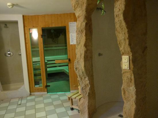Heiligenbrunn, Австрия: Blick zur Sauna