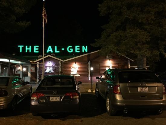 Al Gen Dinner Club: Al_Gen supper club with neon lights