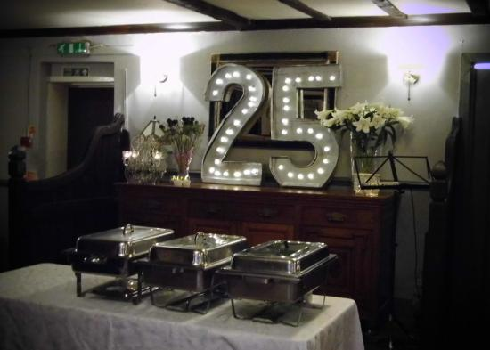 Pitlessie, UK: Function room ready for the party.