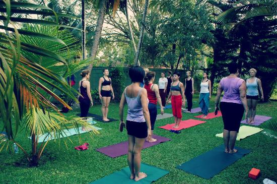 T.K. Green Garden Hotel: Huge space is there for Yoga